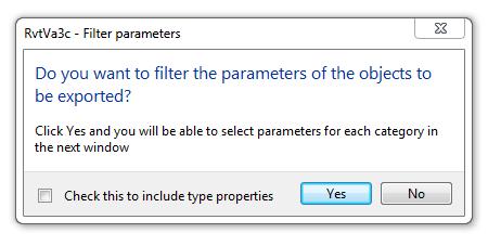 RvtVa3c filter parameters