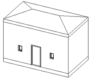 Little house 3D view
