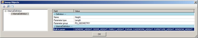 RevitLookup displays all built-in parameter names