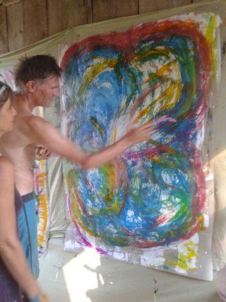 Painting with Moni at les Monnins Dessous