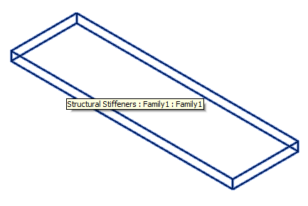 Revit 2014 stiffener family loaded from memory