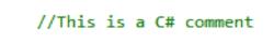 C# comment