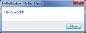 Macro message box