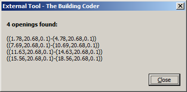 Wall opening coordinates