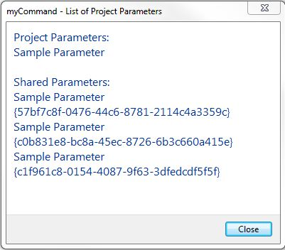 Shared project parameter GUID