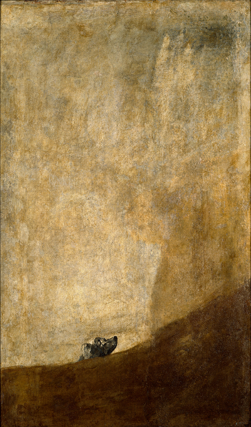 The Dog – El Perro Semihundido – by Goya