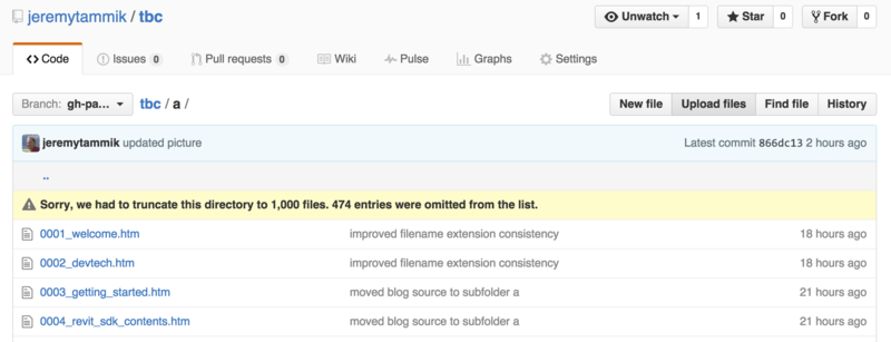 GitHub directory truncated to 1000 files