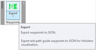 ExportWaypointsJson ribbon panel