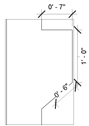 Creating vertical dimensioning