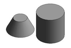 BRepBuilder cone and cylinder