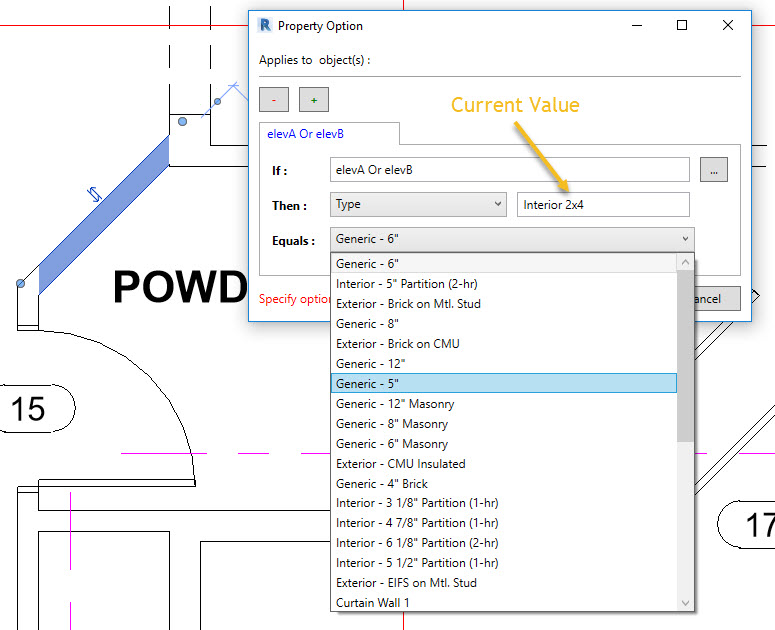 Possible ElementId parameter values