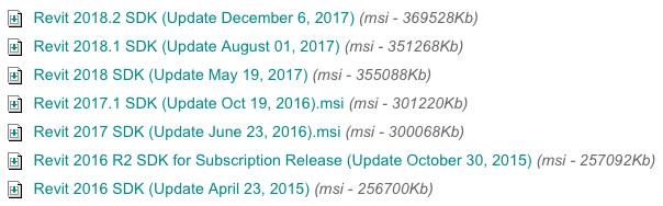 Revit 2018.2 SDK