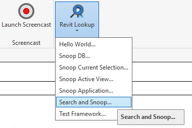 Search and Snoop command
