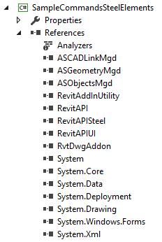 SampleCommandsSteelElements references