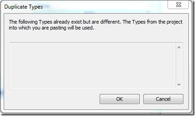 'Duplicate Types' warning