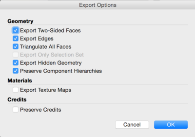 Collada STL export settings for the Autodesk View and Data API