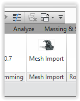 Mesh import ribbon panel icon