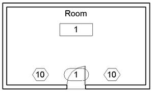 Little house plan view