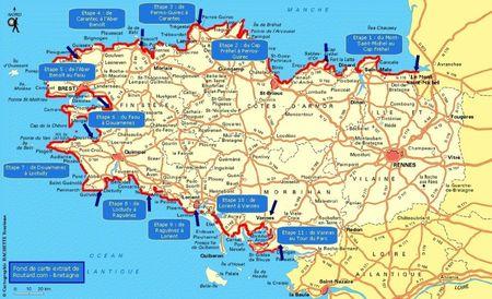 Randonnée en Bretagne sur le GR34