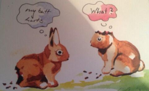Two chokolate Easter bunnies