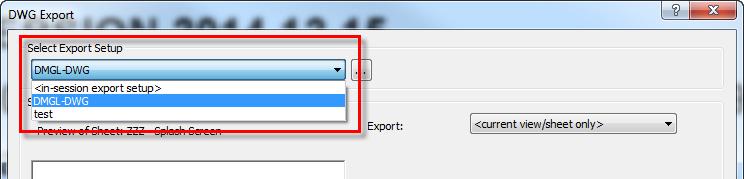 DWG export