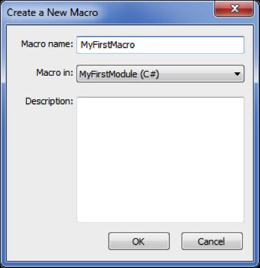 Create new macro