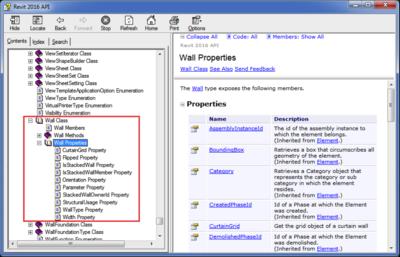 Revit API help file RevitAPI.chm
