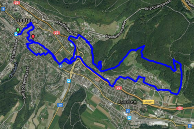 Hash House Harriers Basel Likk'mm trail run on December 13 2015