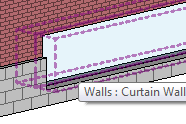 Curtain wall embedded in stacked wall