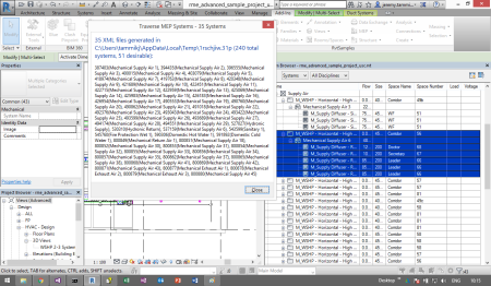 TraverseAllSystems result in rme_advanced_sample_project.rvt