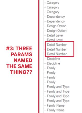 Duplicate parameter display names