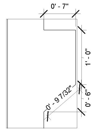 Creating vertical dimensioning