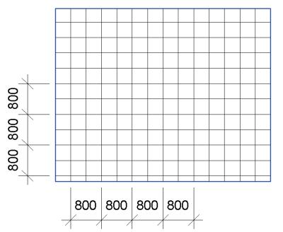 Dimension hatch lines