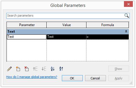Global parameter