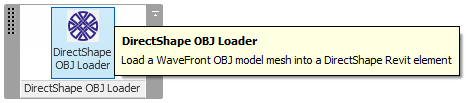 DirectObjLoader ribbon panel icon using embedded resources