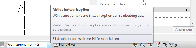 Revit Design Option combo box