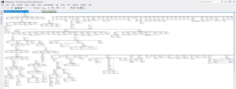 Revit.DB namespace class diagram
