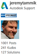 Jeremy's 1001st Autodesk discussion forum post