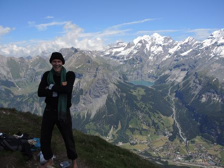Jeremy on the First with Kandersteg and the Oeschinensee