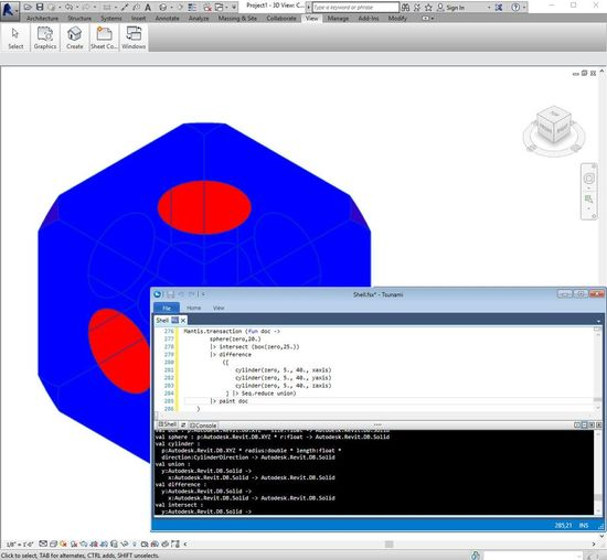 Interactive F# Mantis shell in Revit