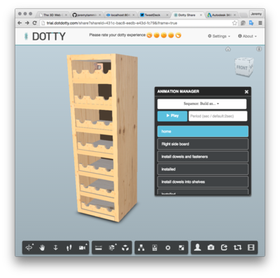 Dotty animated 3D assembly instructions