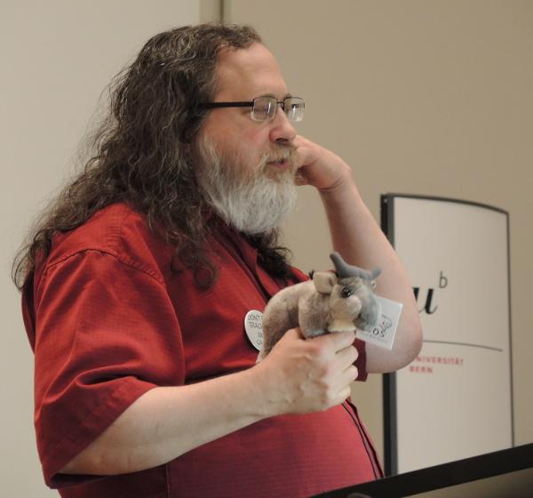 Richard Stallman and the adorable GNU