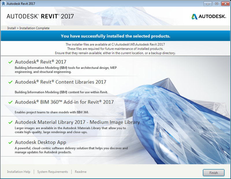 Revit_2017_successfully_installed