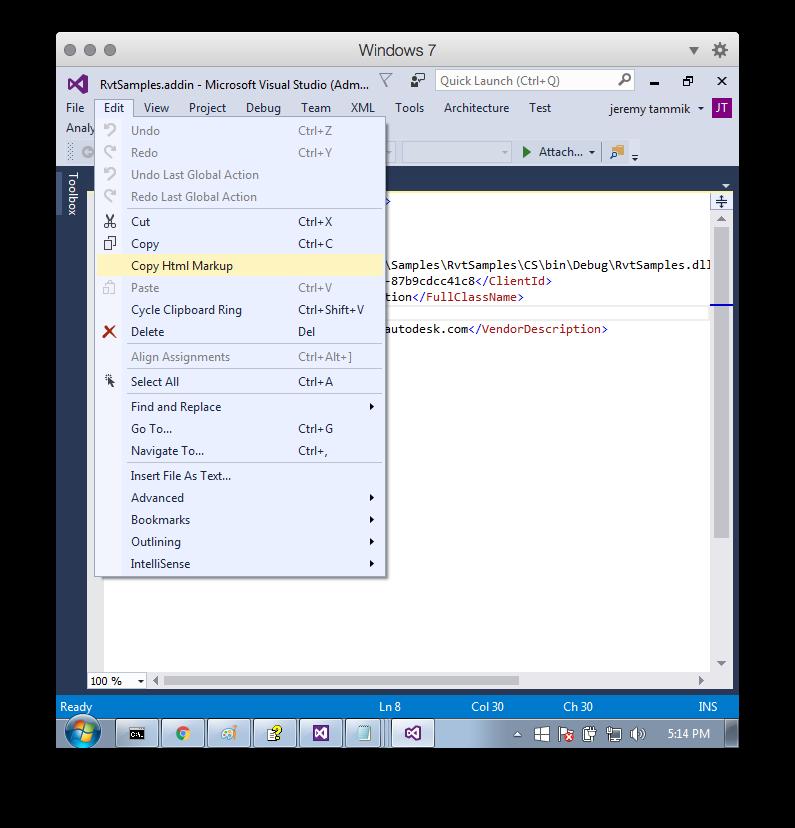 Visual_studio_2015_copy_html_markup