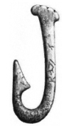 Stone Age fish hook made from bone