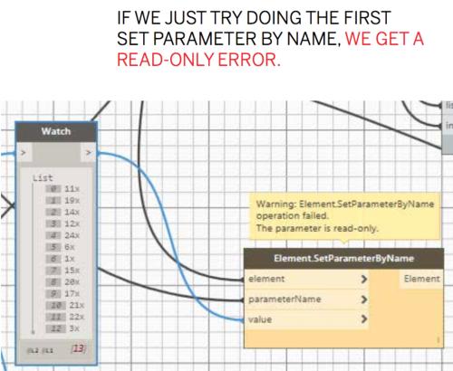 Set parameter throws read-only error