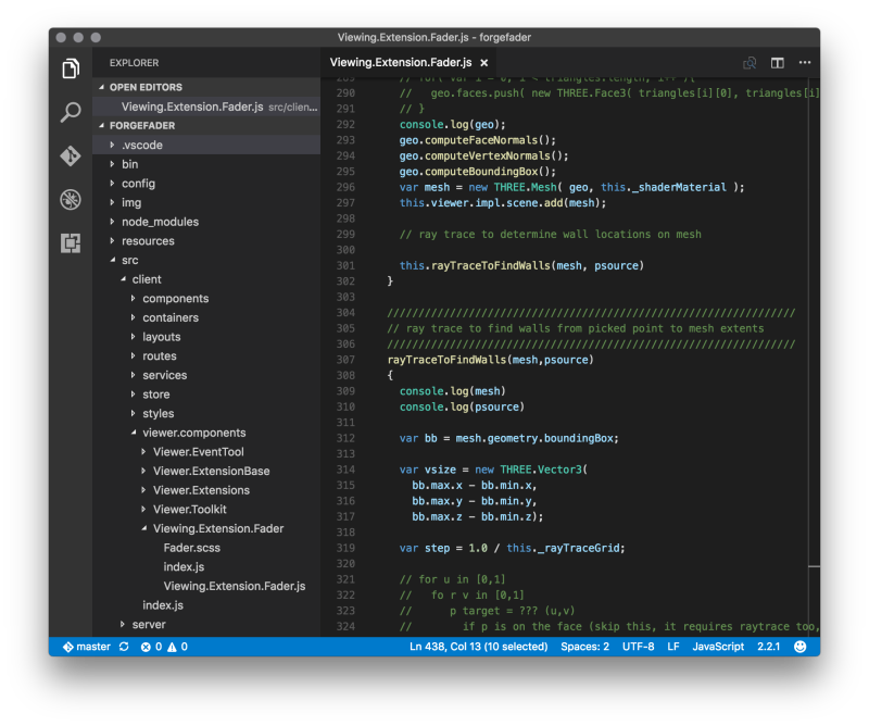 ForgeFaver in Visual Studio Code