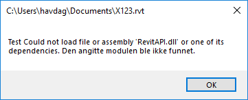 Revit API required