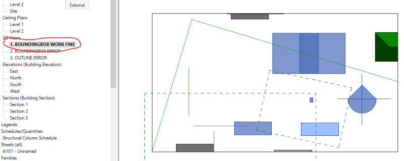 Bounding box rotated 0 degrees