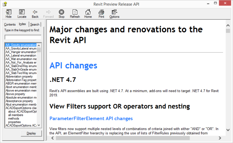 Revit 2019 API help on What's New